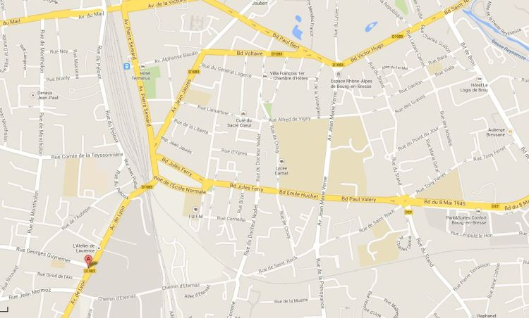 google map literie berthet